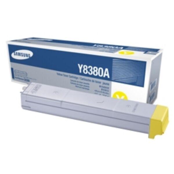 Samsung Originale CLX-8380 ND Toner (Y8380A / CLX-Y 8380 A/ELS) giallo, 15,000 pagine, 1.41 cent per pagina