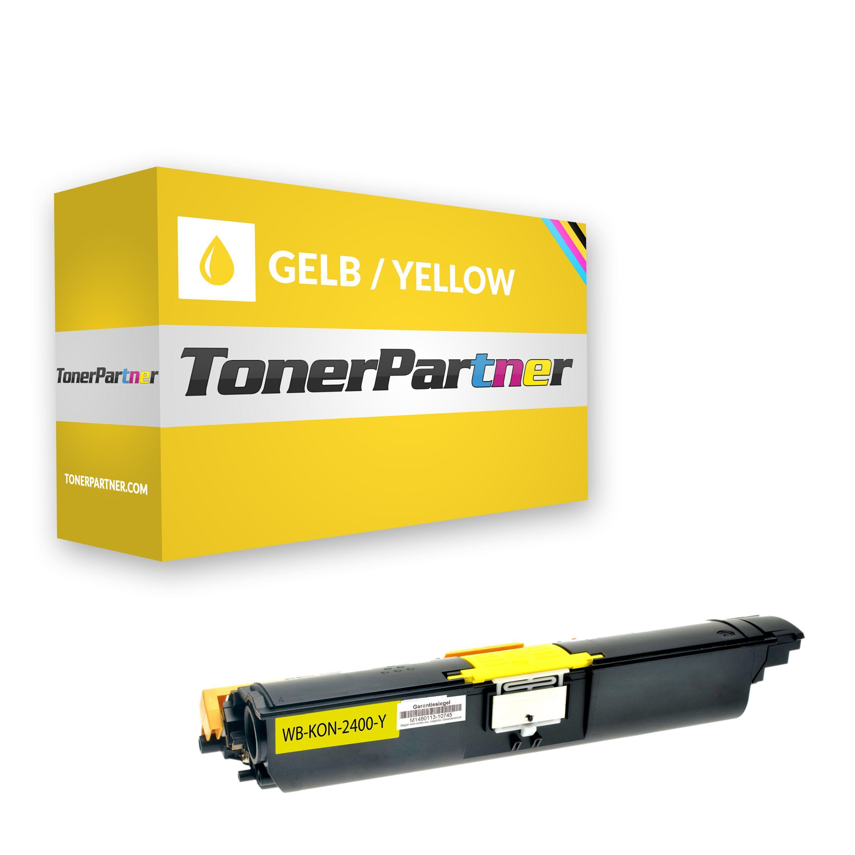 TonerPartner Compatibile con Konica Minolta Magicolor 2400 W Toner (171-0589-005 / A00W132) giallo, 4,500 pagine, 1.55 cent per pagina di
