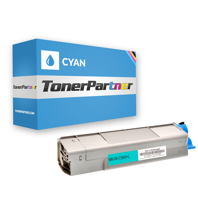 TonerPartner Compatibile con OKI C 5850 N Toner (43865723) ciano, 6,000 pagine, 0.87 cent per pagina - sostituito Toner 43865723 per OKI C 5850N di