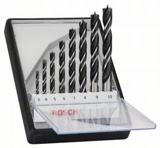 Bosch Serie di Punte Robust Line da Legno 8 Pezzi da 3 mm a 10 mm