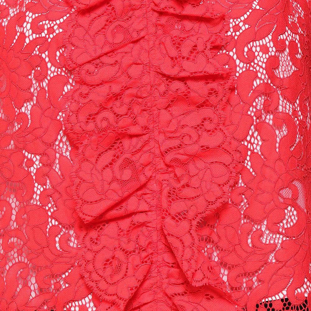 Liu Jo Donna A/I Top rosso in pizzo macramè