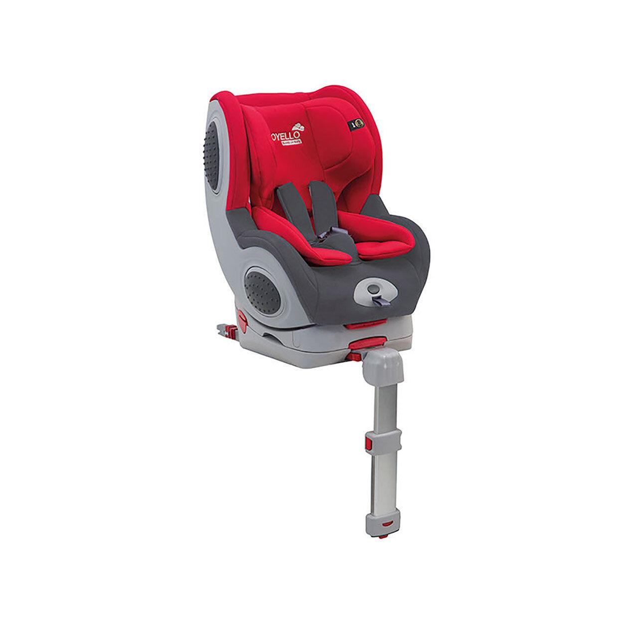 joyello seggiolino auto 0-18 kg isofix top securfix bruum, rosso