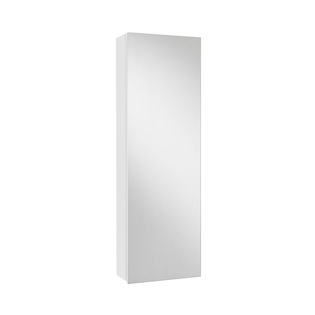 Bianco che passione Scarpiera/Scaffale con specchio FREE, bianco