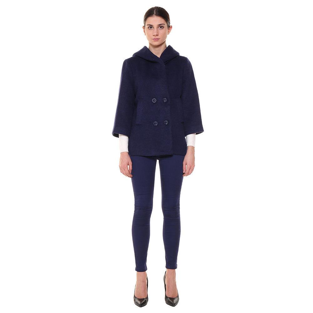Silvian Heach A/I Cappotto corto con cappuccio blu