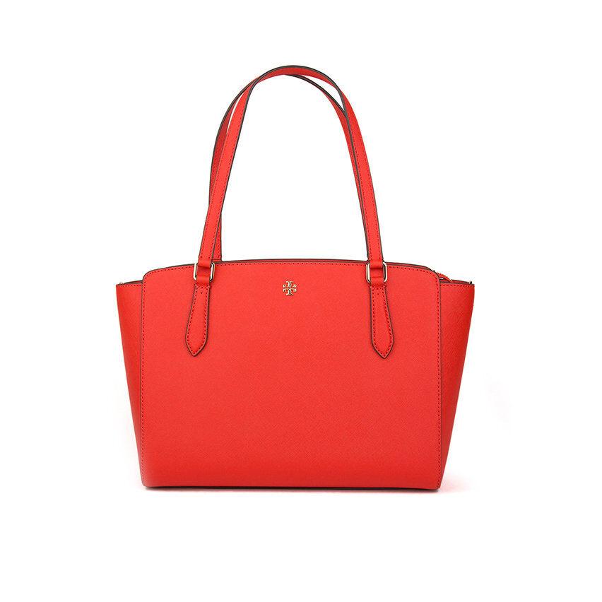 tory burch borsa tote emerson piccola con zip superiore rossa