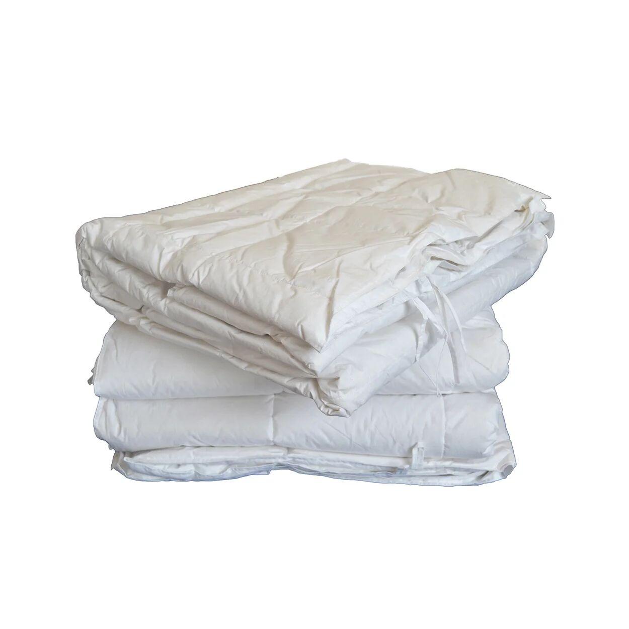 Piumoni in fibra Piumone in Fibra 4 Stagioni con tessuto in puro cotone, bianco