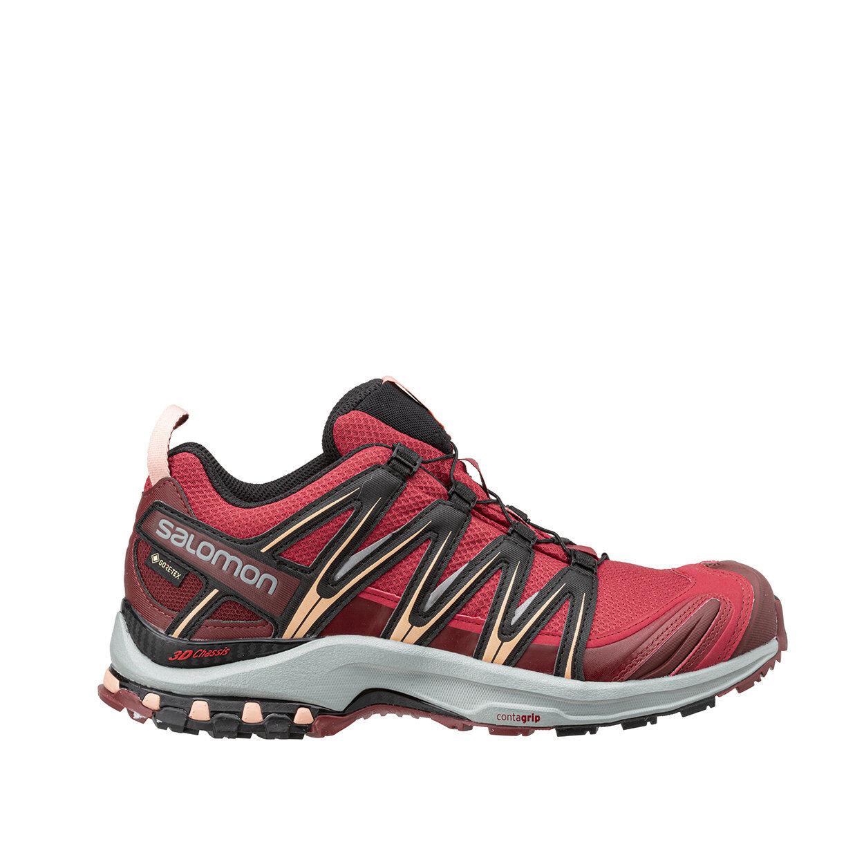 salomon xa pro 3d gtx - scarpe trail running rosso corallo