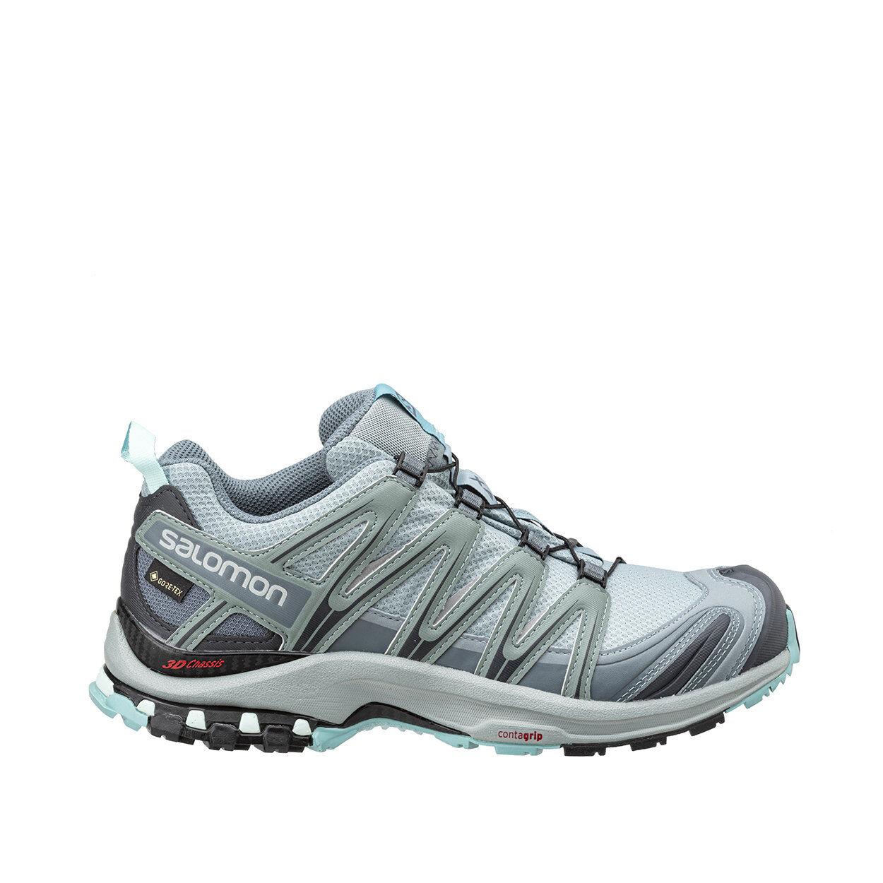 salomon xa pro 3d gtx - scarpe trail running verde acqua ed azzurro