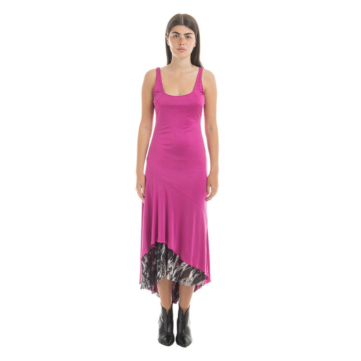 Patrizia Pepe Abito a canotta lungo con sottogonna lunga in colorazione a contrasto