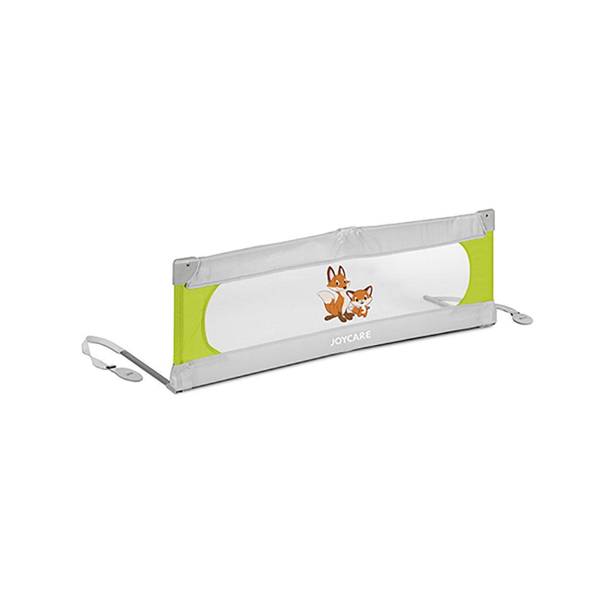 joycare bambino barriera letto 135 cm nuvola, verde lime/grigio