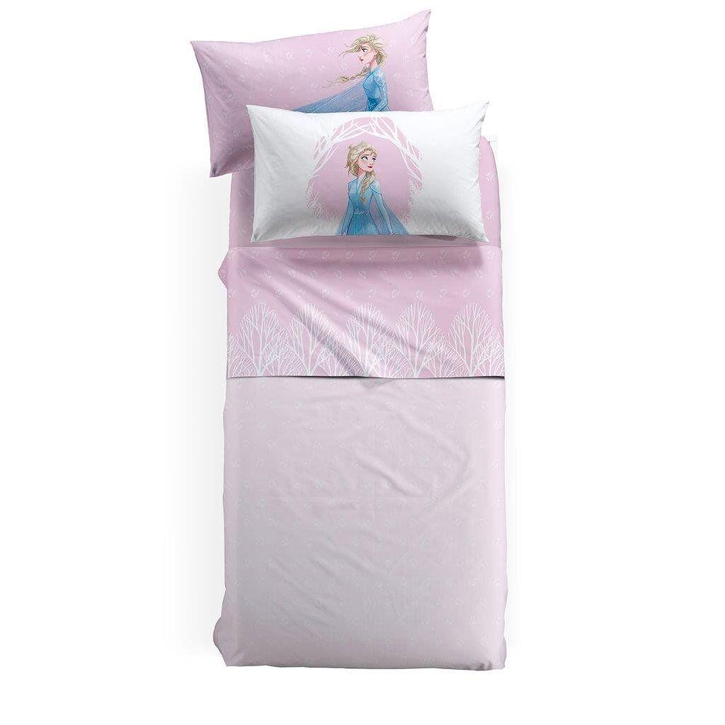 cameretta completo lenzuola disney frozen natura caleffi letto piazza e mezzo, rosa