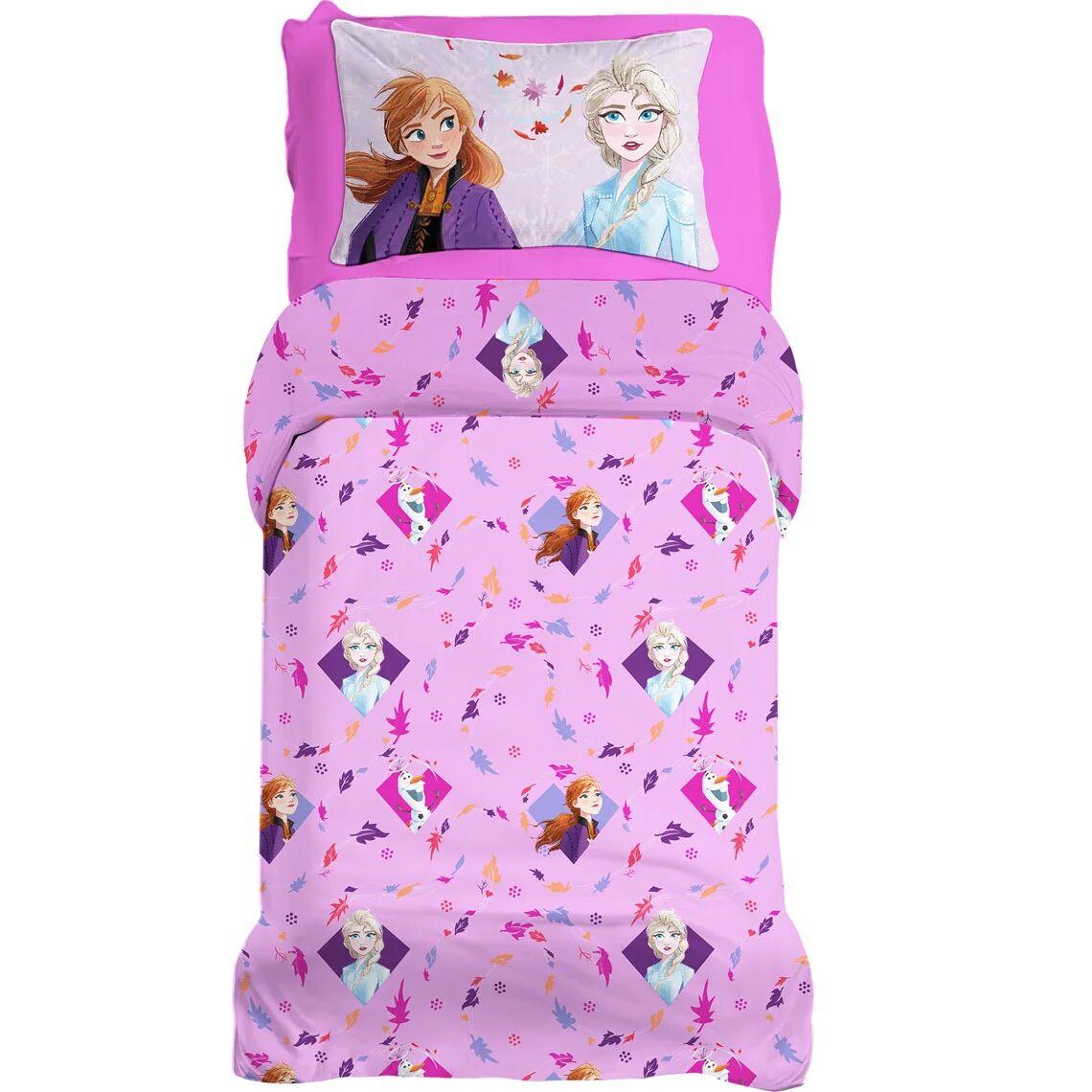 cameretta completo lenzuola frozen 2 letto singolo, multicolore