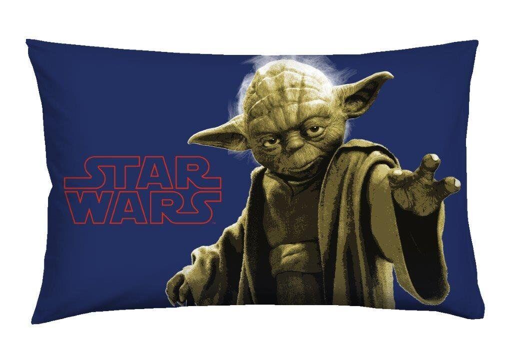 cameretta star wars federa cuscino letto yoda, multicolore
