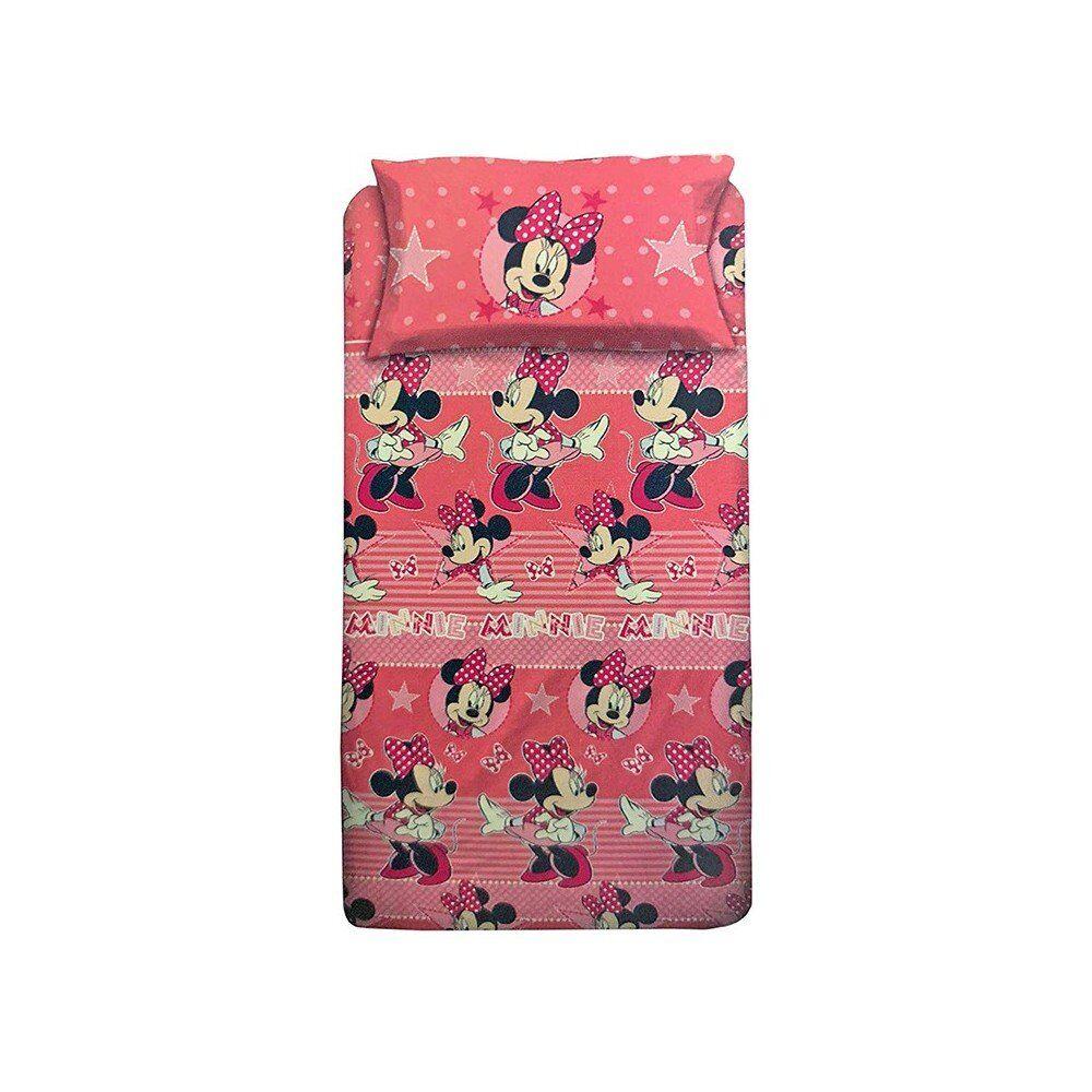 cameretta completo lenzuola minnie elegant letto piazza e mezzo, multicolore