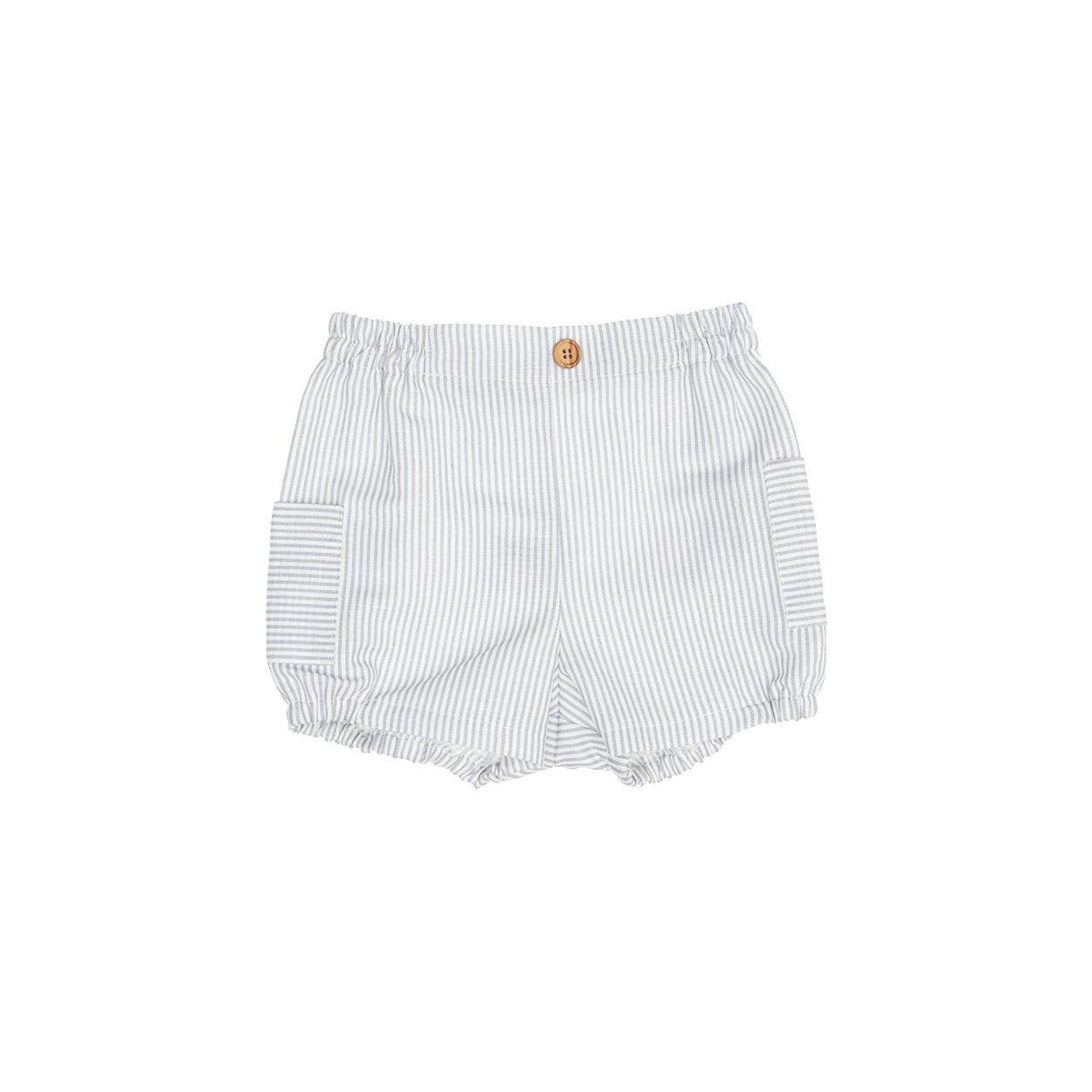 Abbigliamento Neonato Short in cotone a righe con tasche multicolor