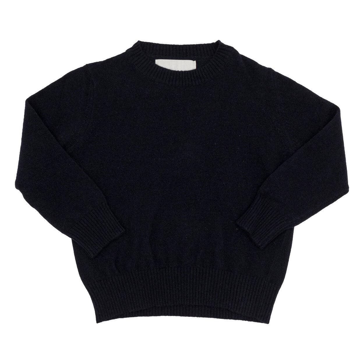 TOURISTE Maglione in lana con collo e polsini a costini blu
