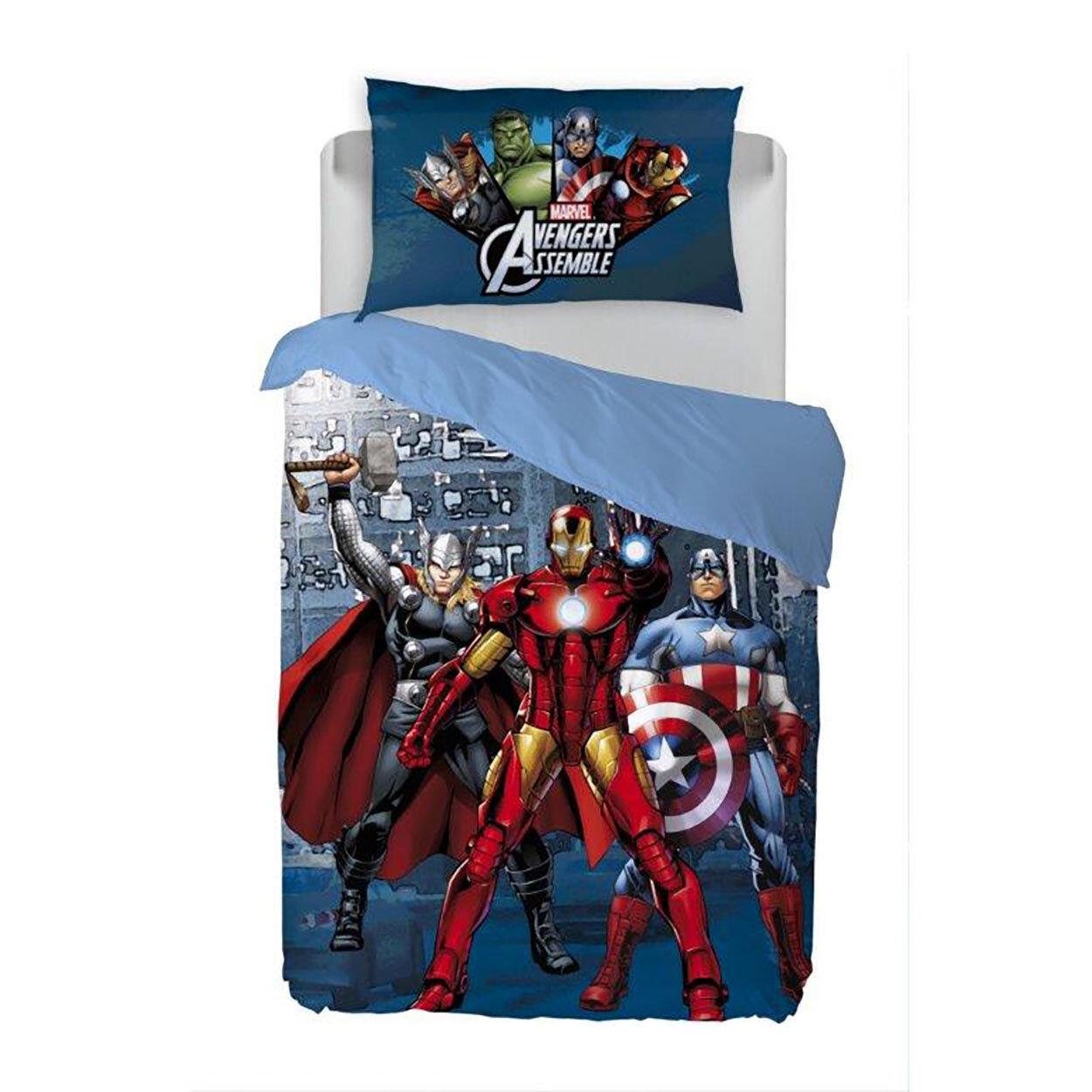 Cameretta The Avengers Parure Copripiumino Caleffi, multicolore
