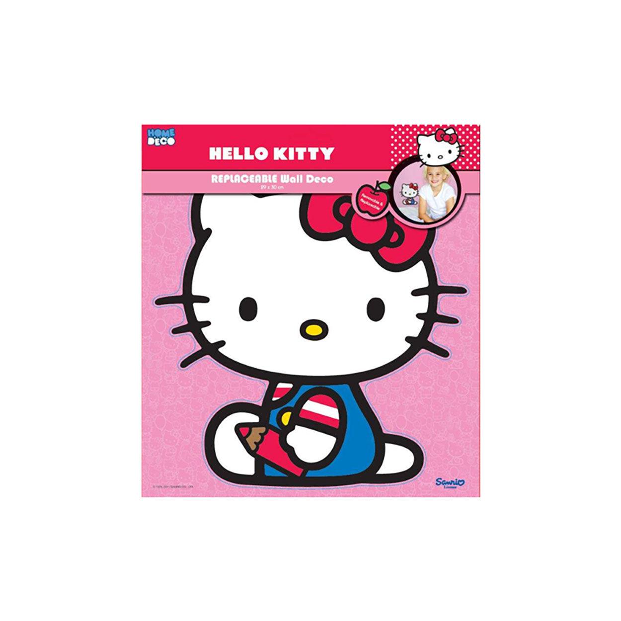Cameretta Hello Kitty Coppia Adesivi da Parete 3D, fumetto