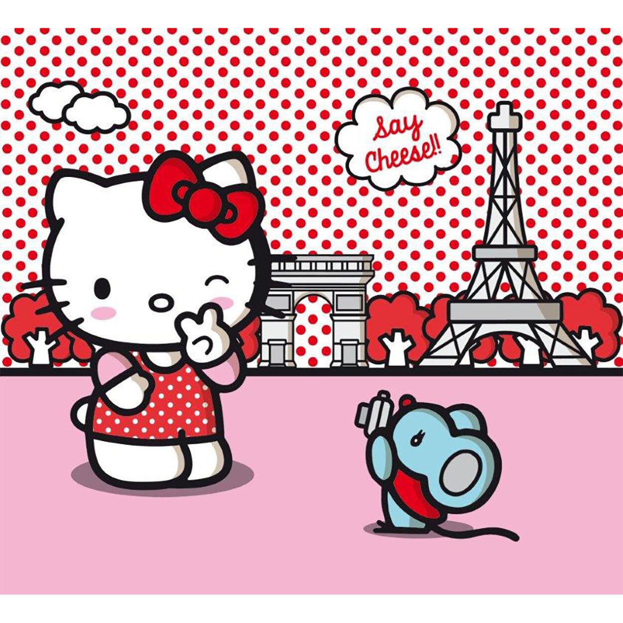 Cameretta Hello Kitty Coppia di Tende per la Cameretta 180x160 cm, fumetto