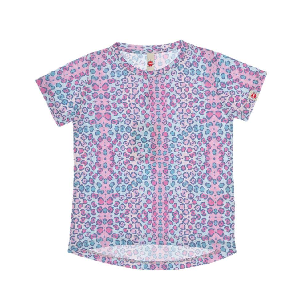 Colmar T-shirt leopardata colorata, rosa
