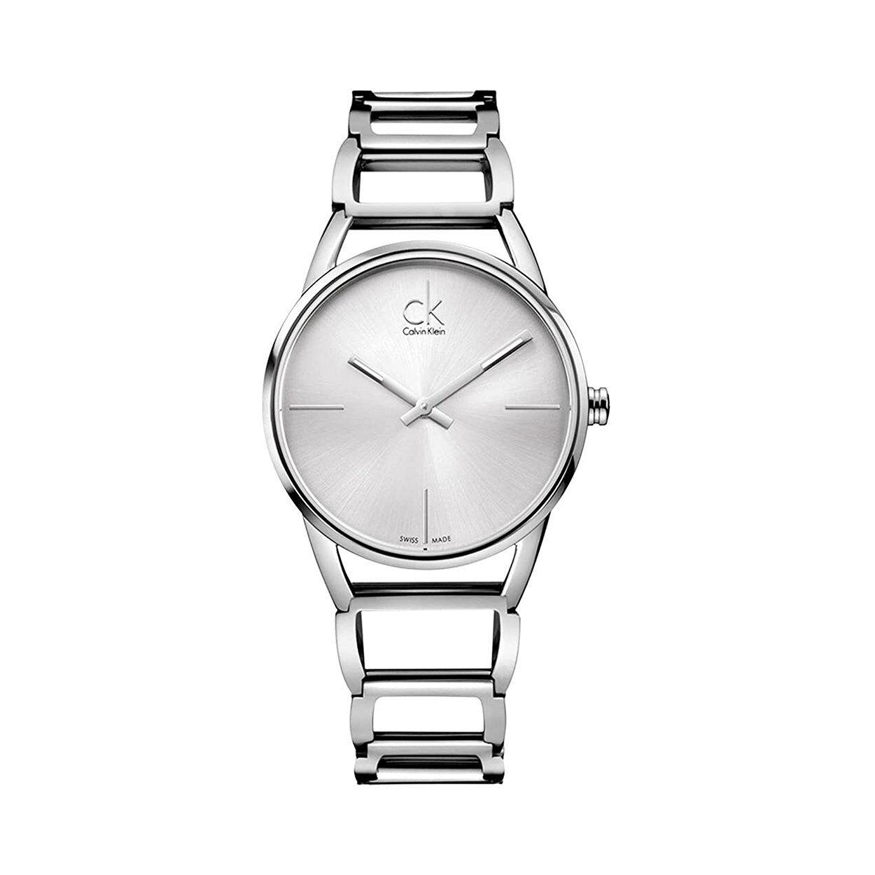 calvin klein orologio da polso donna calvin klein con cinturino in acciaio con quadrante madreperla