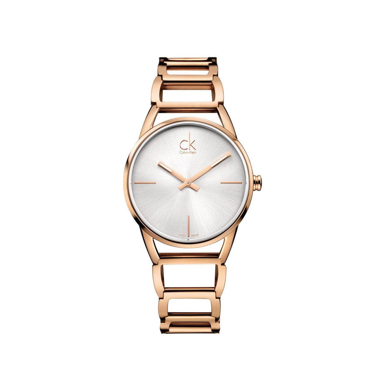calvin klein orologio da polso donna calvin klein con cinturino in acciaio rosè con quadrante madreperla