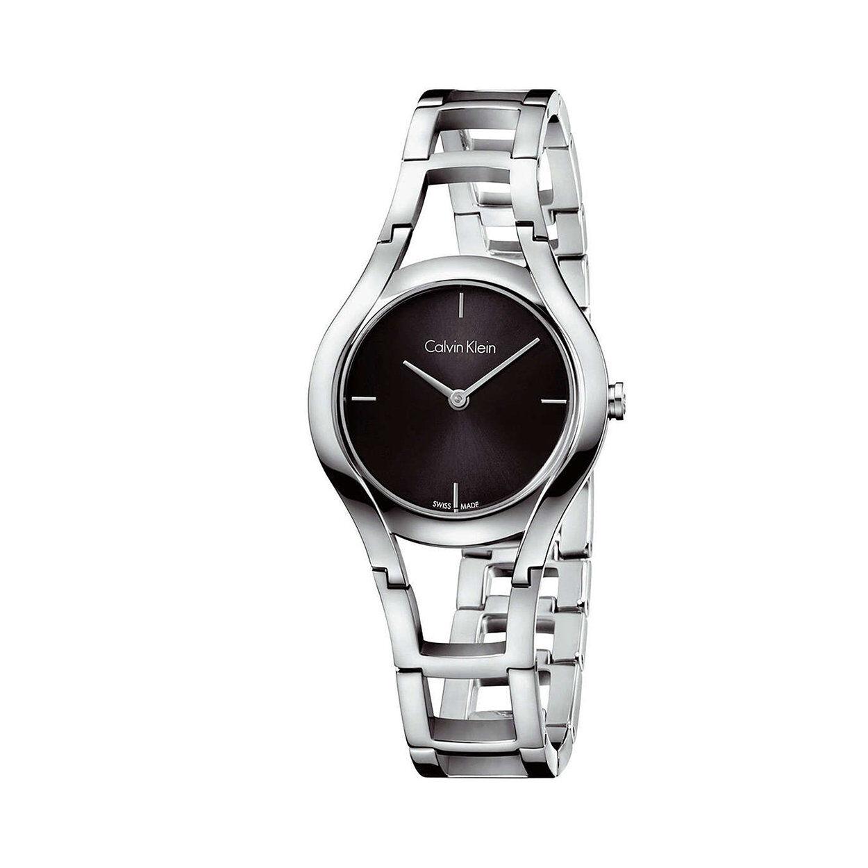 calvin klein orologio da polso calvin klein donna con cinturino in acciaio con quadrante nero
