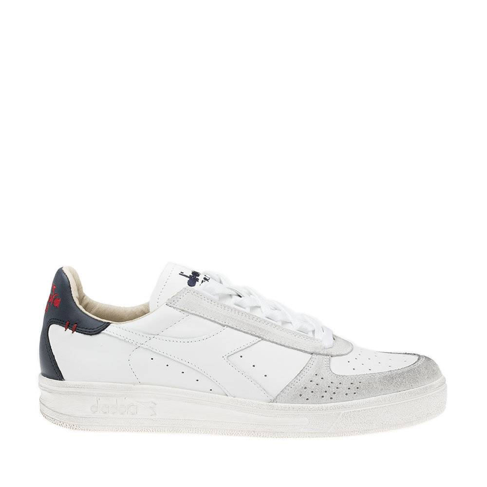Diadora Sneakers Diadora da uomo ''B. Elite H Leather Dirty'' bianche e blu