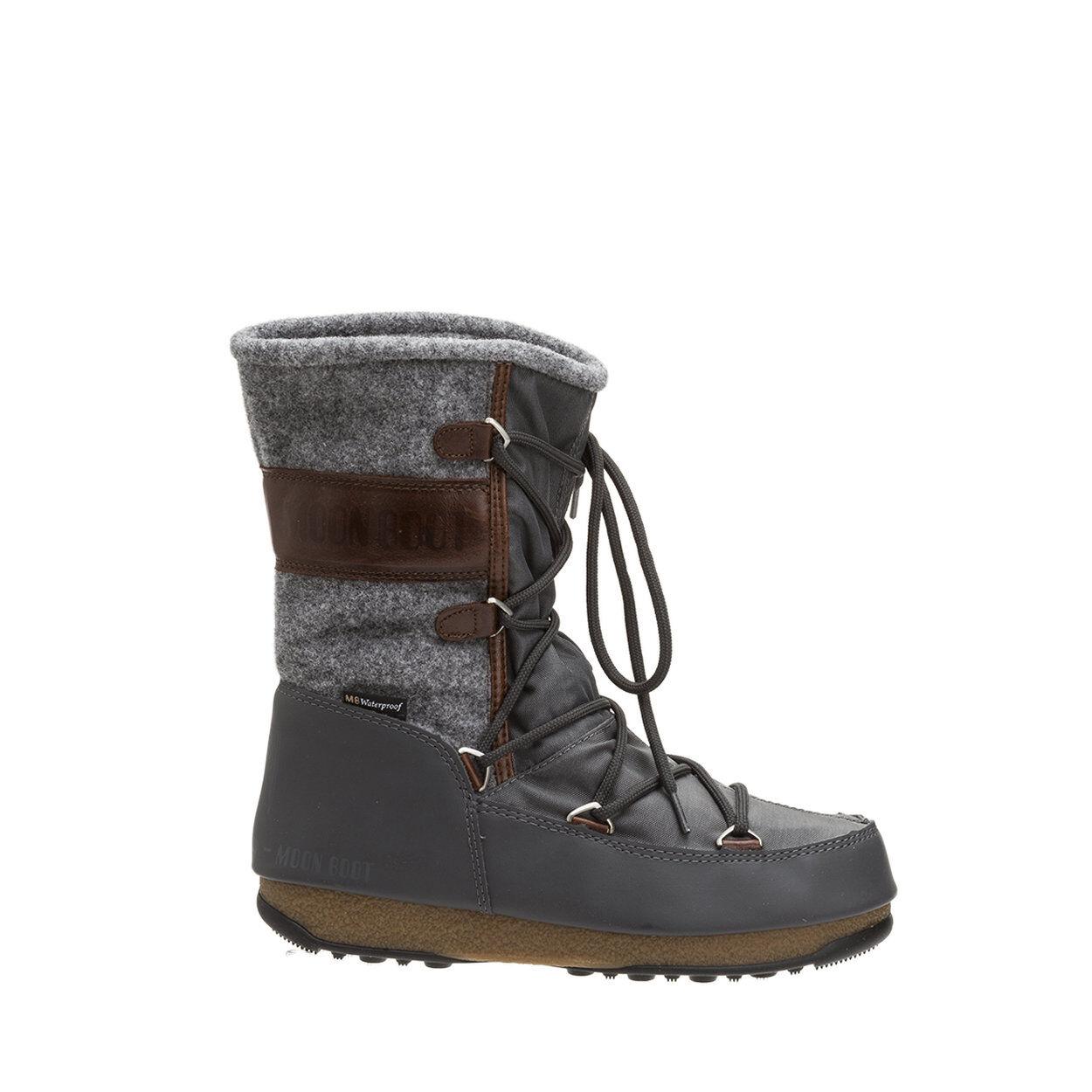 Moon Boot Stivali Vienna felt in nylon e feltro grigio