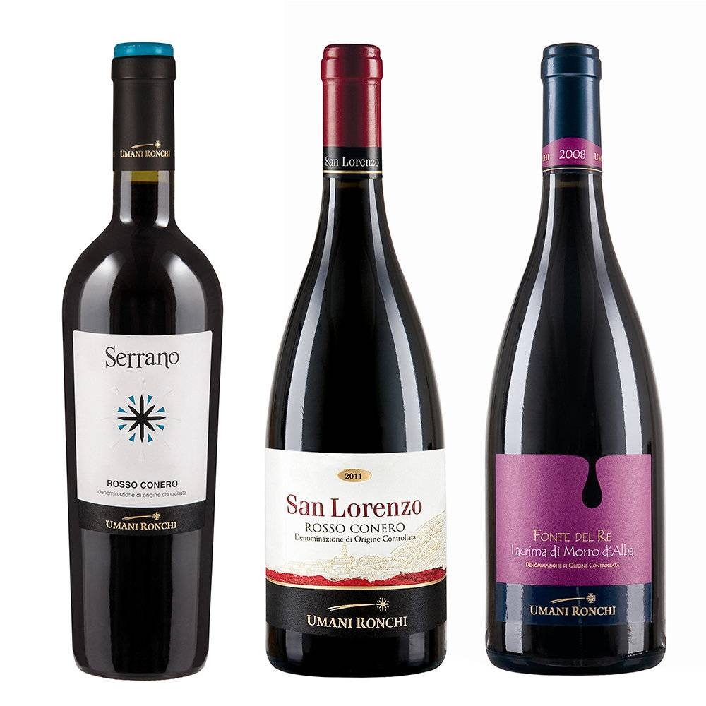 Umani Ronchi 3 bottiglie miste: Serrano - San Lorenzo - Fonte del Re