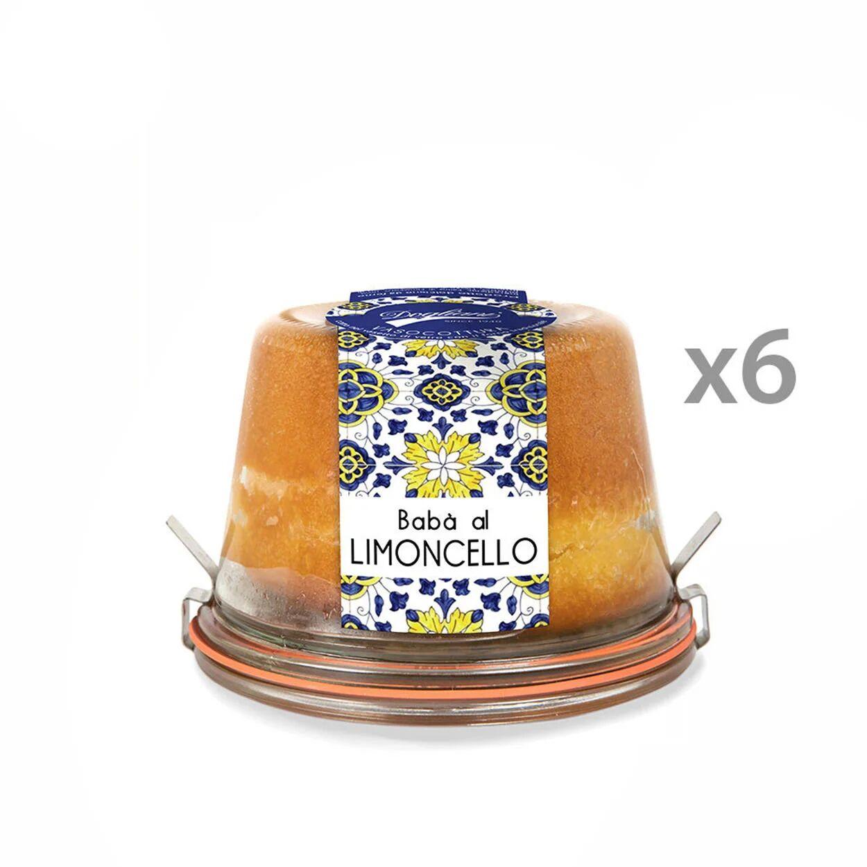 dogliani 6 confezioni - babà al limoncello in vaso cottura 200 gr