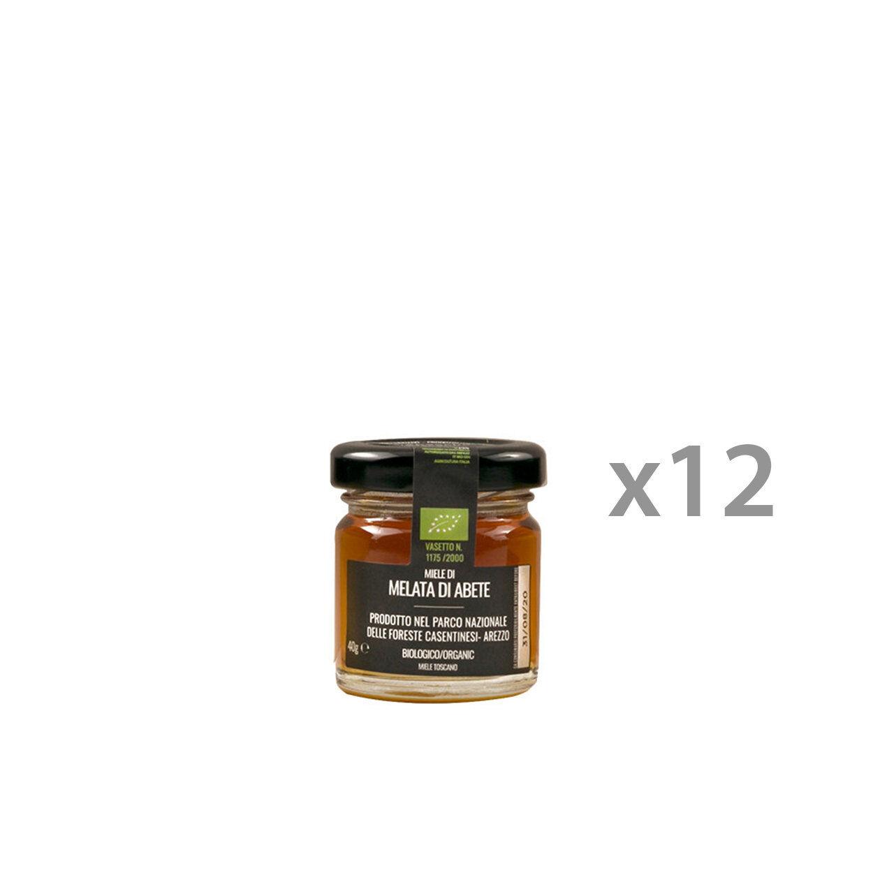 biobacche toscane 12 vasetti - miele di melata di abete 40 gr