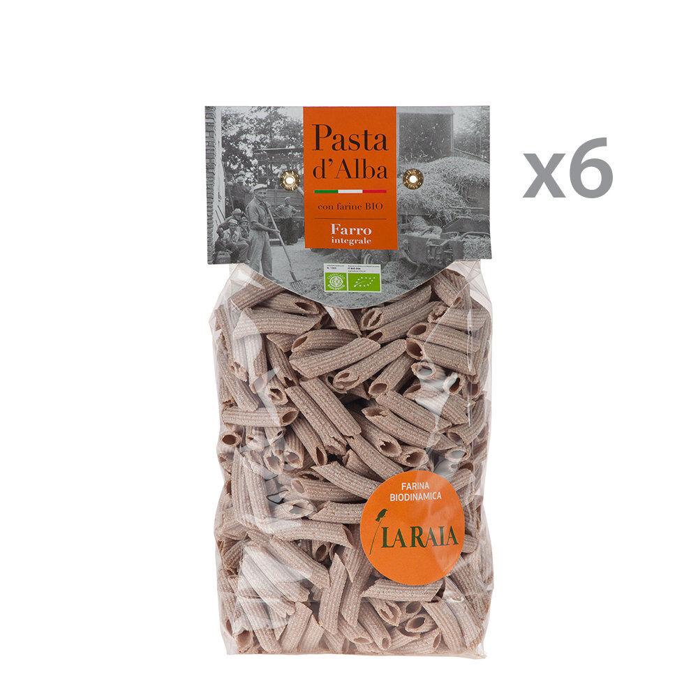 pasta d'alba 6 confezioni - penne di farro integrale bio 500 gr.