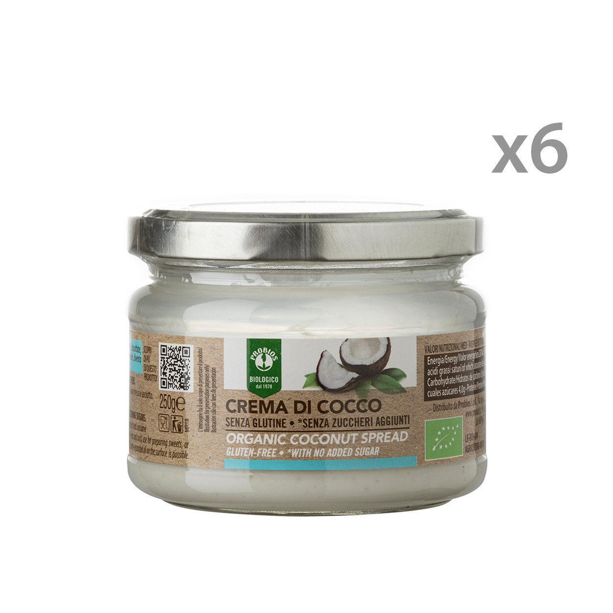 probios 6 vasetti - crema 100% cocco 250 gr