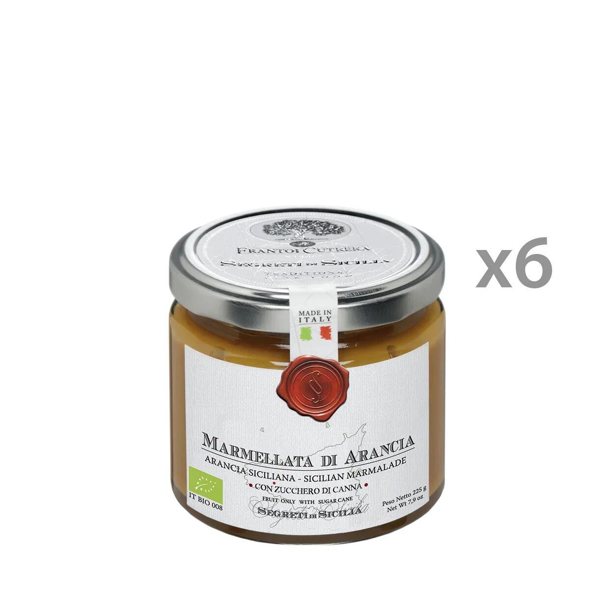 Segreti di Sicilia 6 vasetti - Marmellata di Arancia Siciliana BIO 225 gr