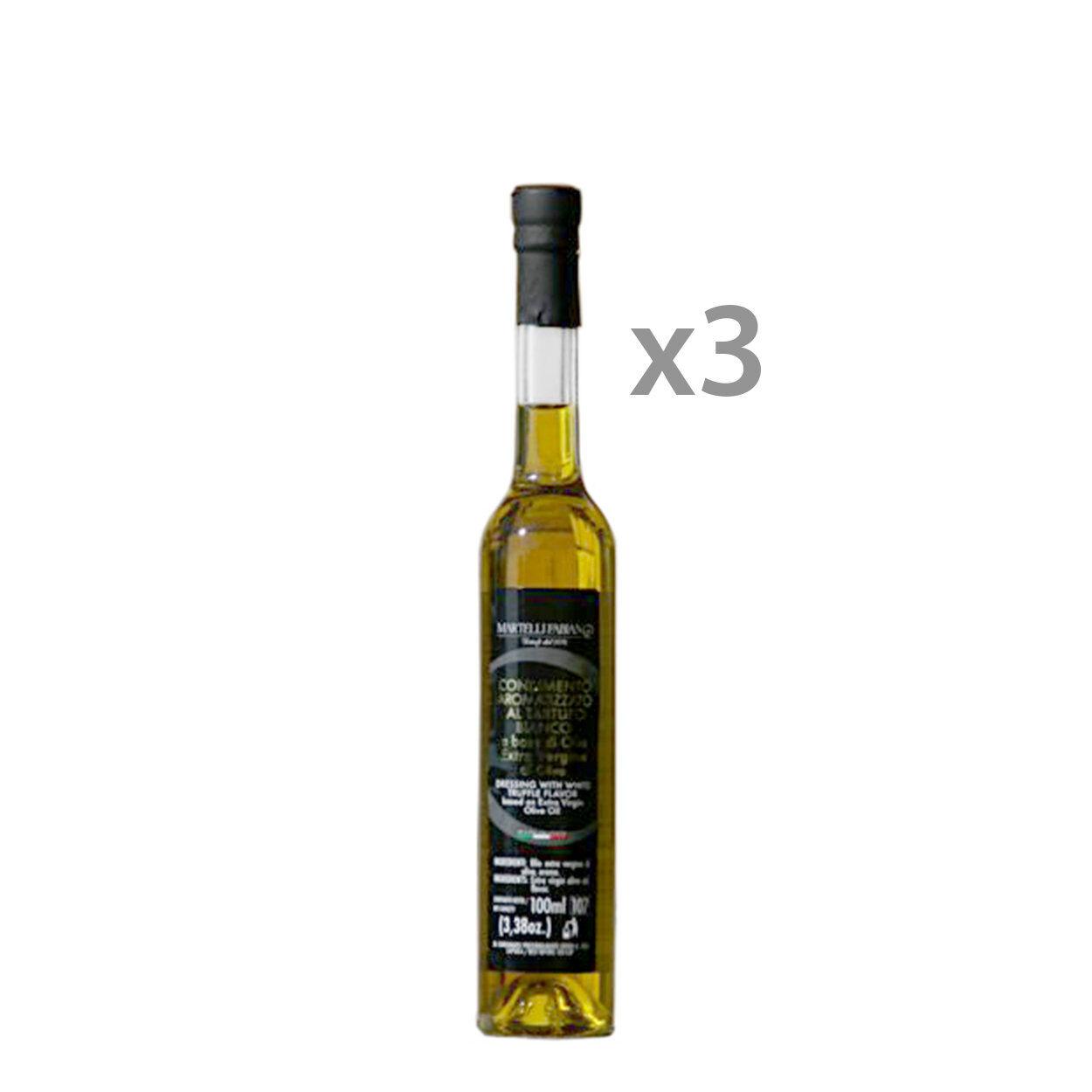 Martelli Fabiano Tartufi 3 bottiglie - Condimento aromatizzato al Tartufo Bianco 100 ml