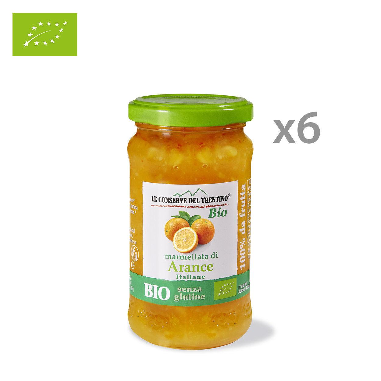 Le Conserve del Trentino 6 vasetti - Marmellata di Arancia BIO 250 gr