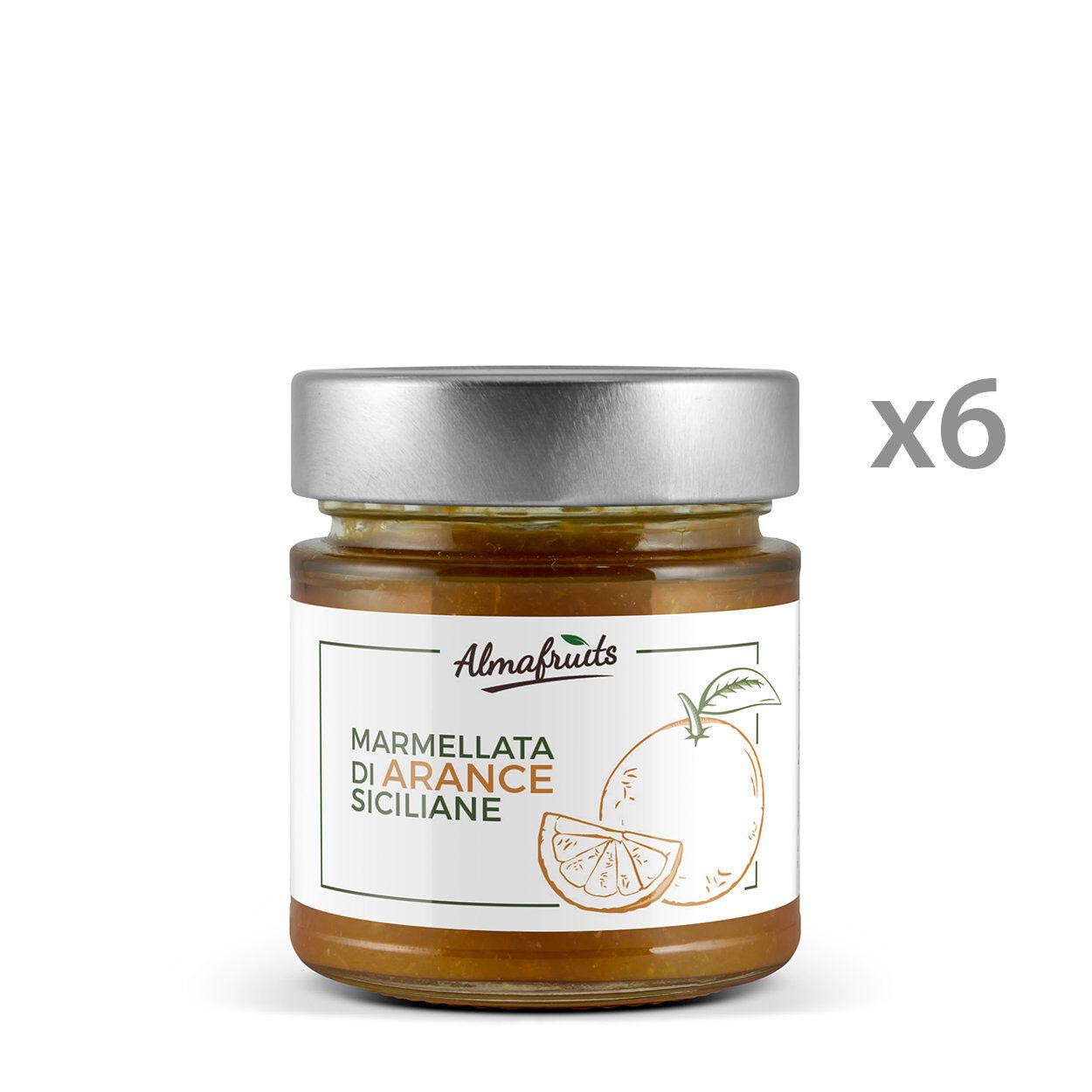 Almafruits 6 vasetti - Marmellata di Arance Siciliane 250 gr