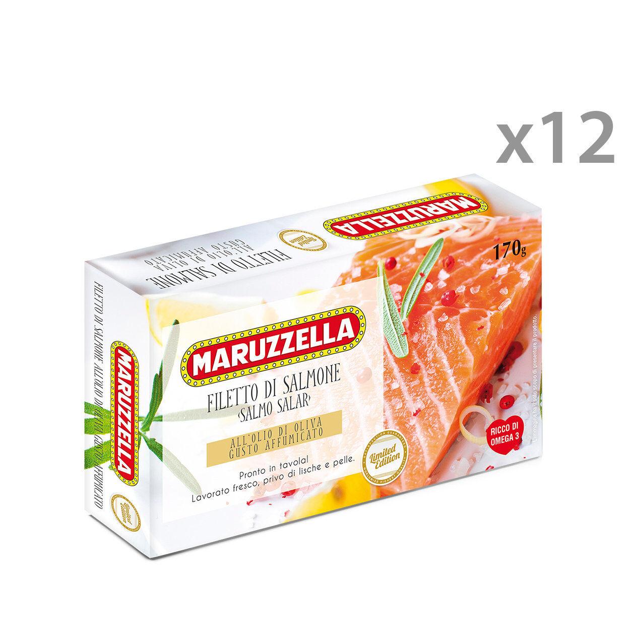 Maruzzella 12 confezioni - Filetti salmone Maruzzella affumicato 170 gr