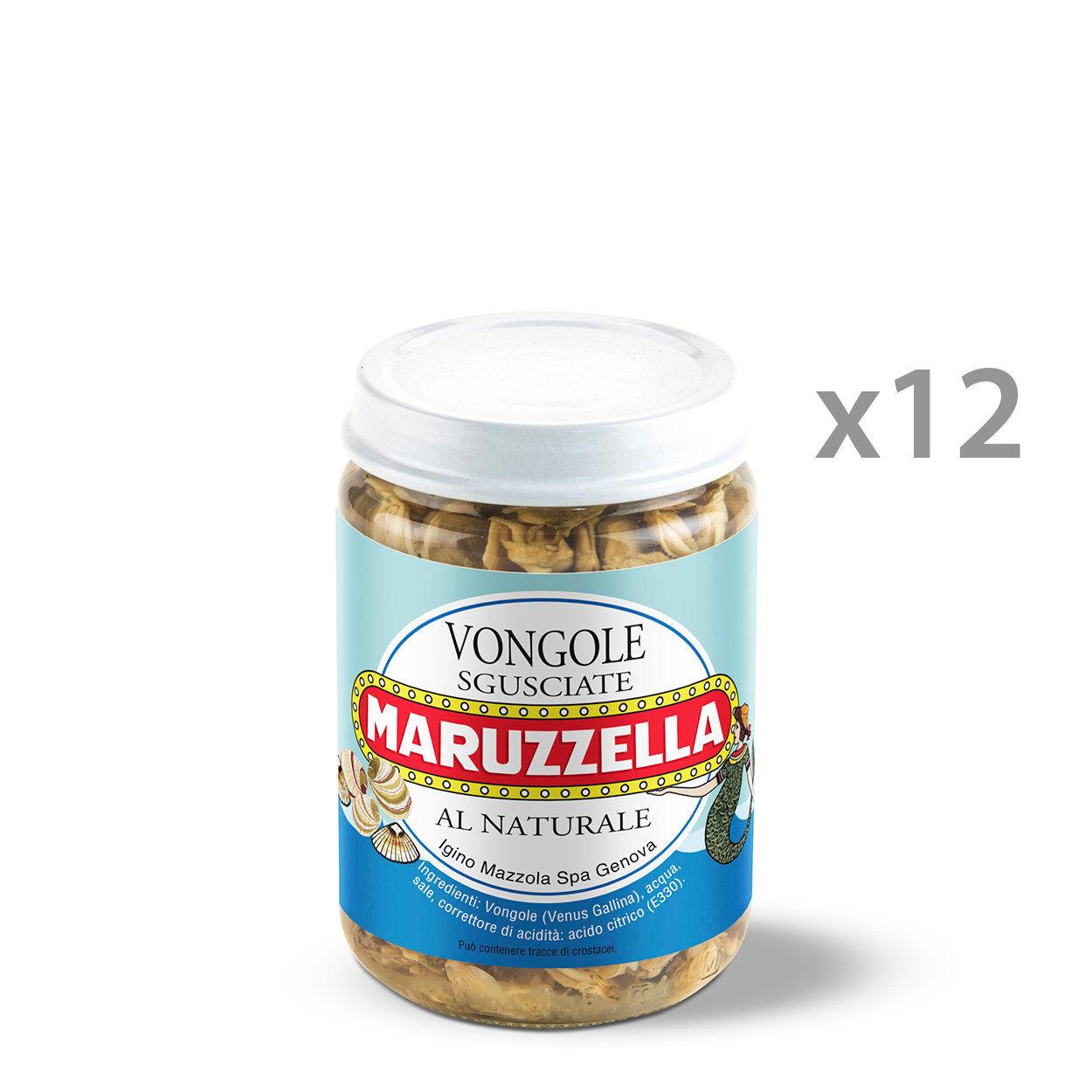 Maruzzella 12 vasetti - Vongole Maruzzella al naturale 130 gr