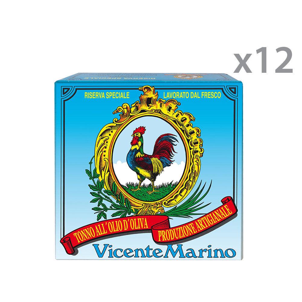 Comarcon 12 lattine - Tonno Obesus in Olio di Oliva pescato a canna Riserva Speciale 280 gr