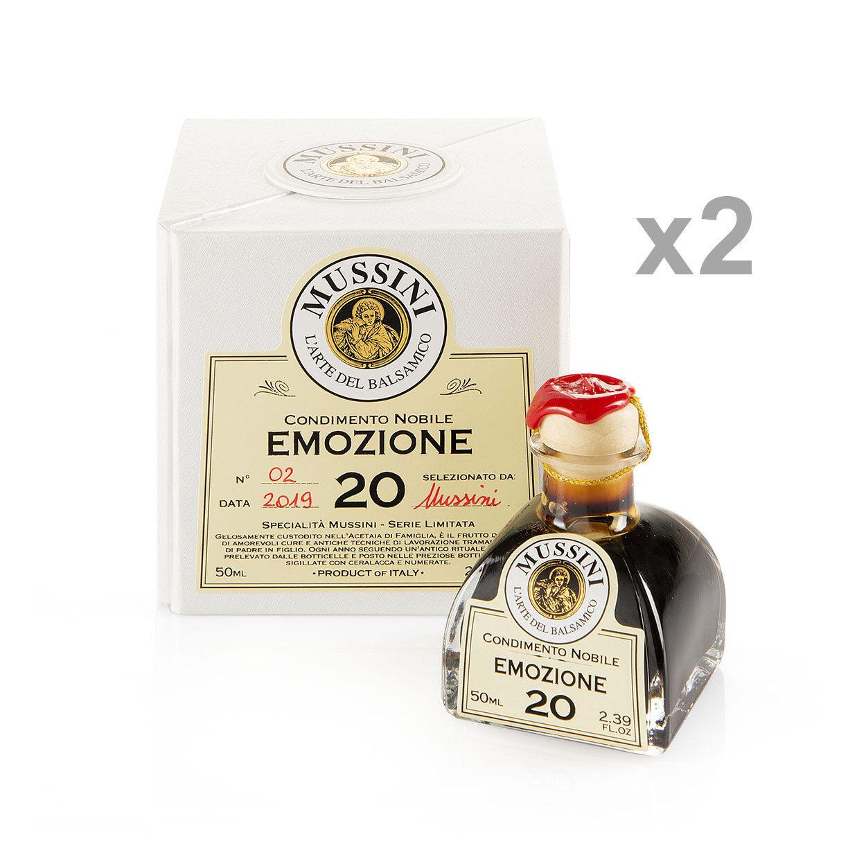 """Mussini 2 bottigliette da 50 gr - Condimento Nobile """"Emozione n°20"""""""