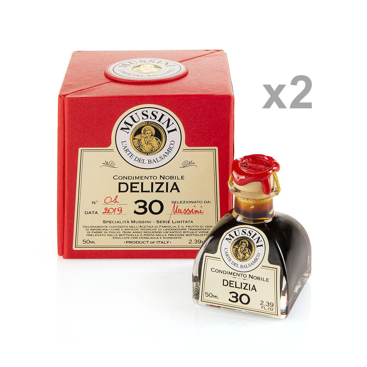 """Mussini 2 bottigliette da 50 gr - Condimento Nobile """"Delizia n°30"""""""
