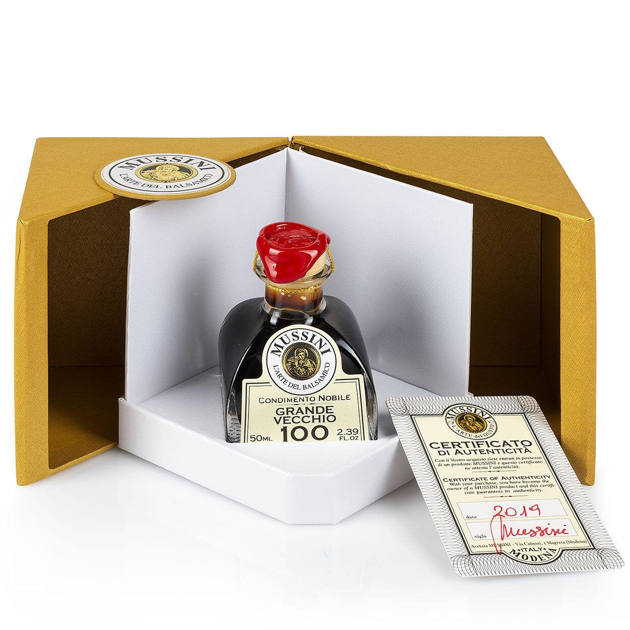 """Mussini 1 bottiglietta da 50 gr - Condimento Nobile """"Grande Vecchio n°100"""""""