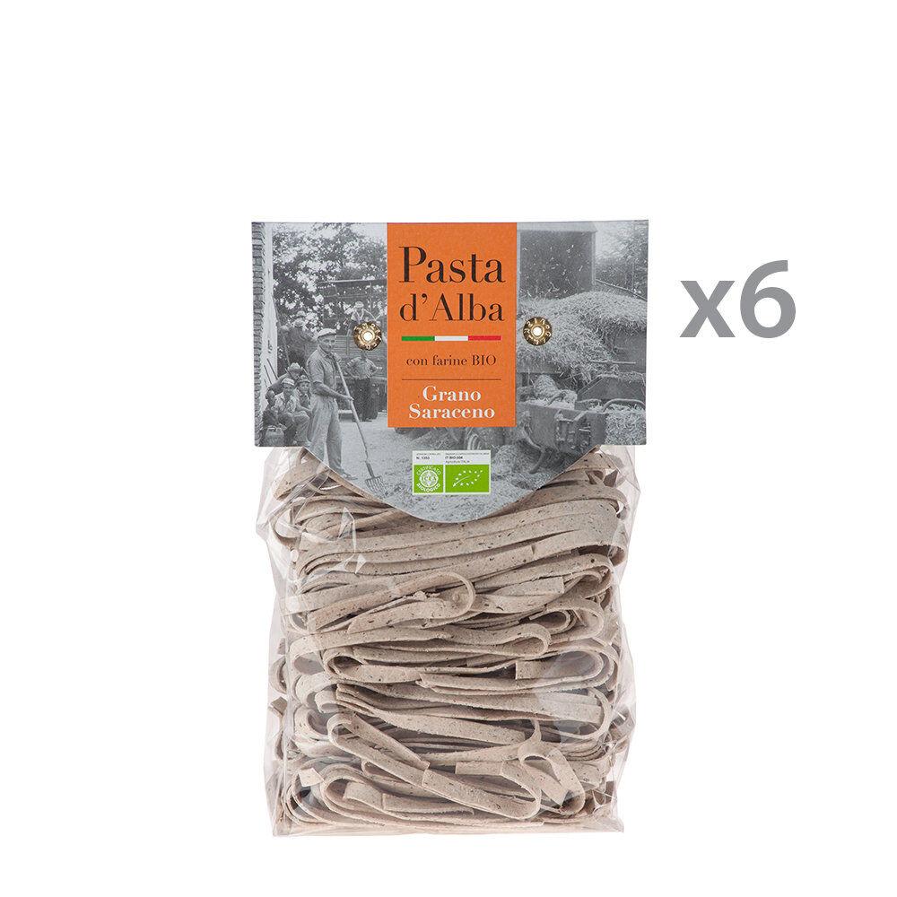 Pasta d'Alba 6 confezioni - Tagliatelle al grano Saraceno BIO 250 gr.