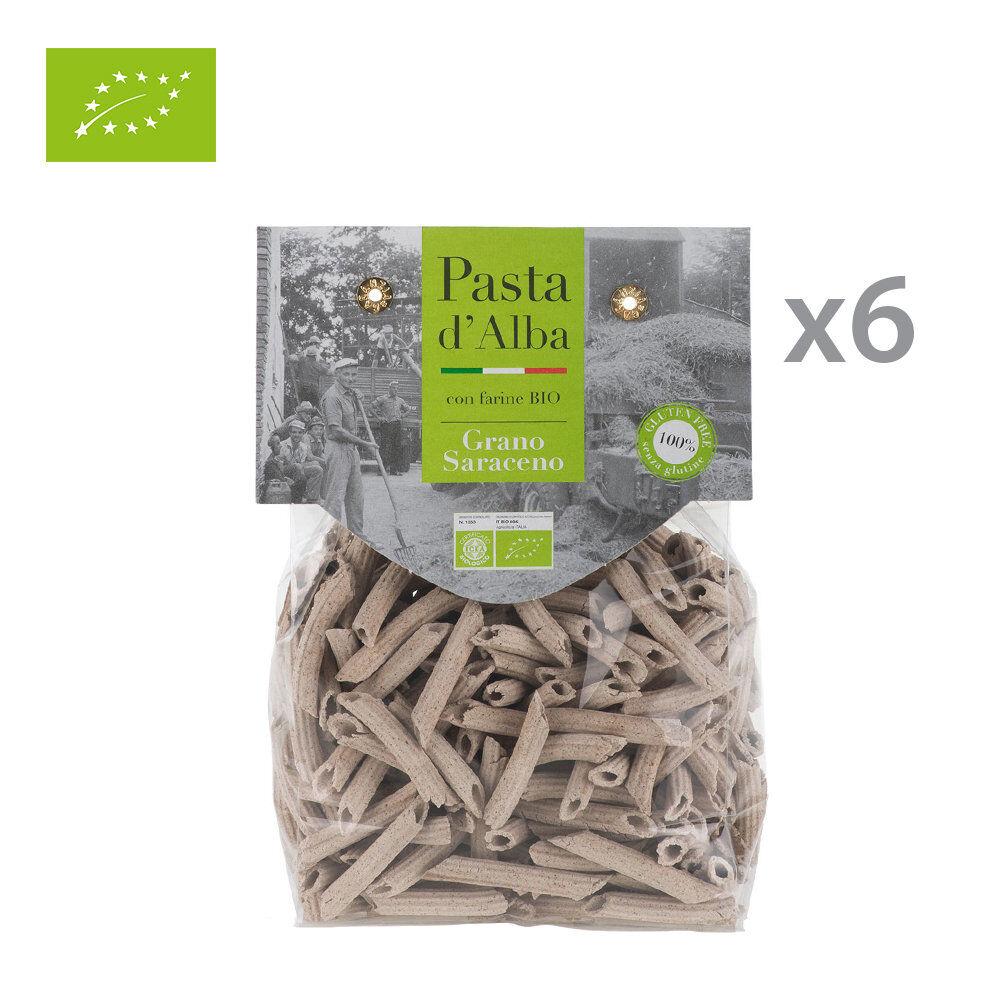 Pasta d'Alba 6 confezioni - Penne di grano Saraceno BIO Senza Glutine 250 gr