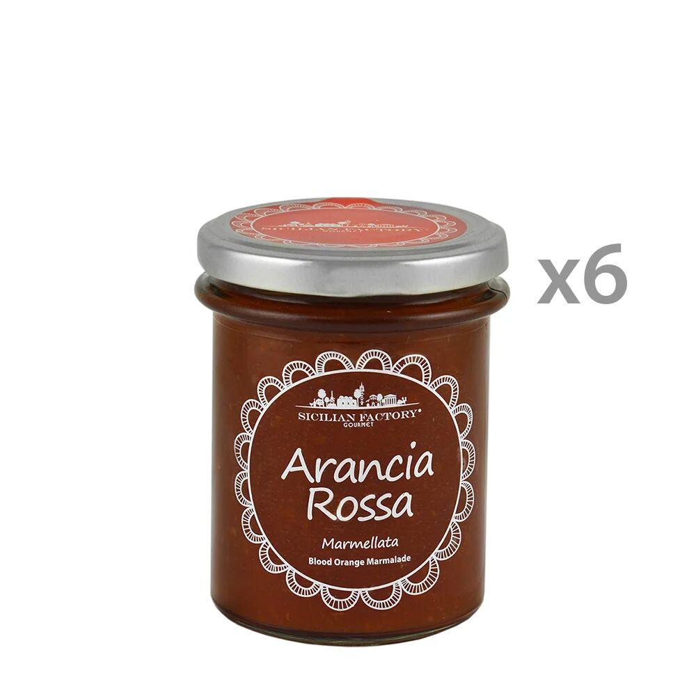 Sicilian Factory 6 vasetti - Marmellata di Arancia Rossa 240 gr