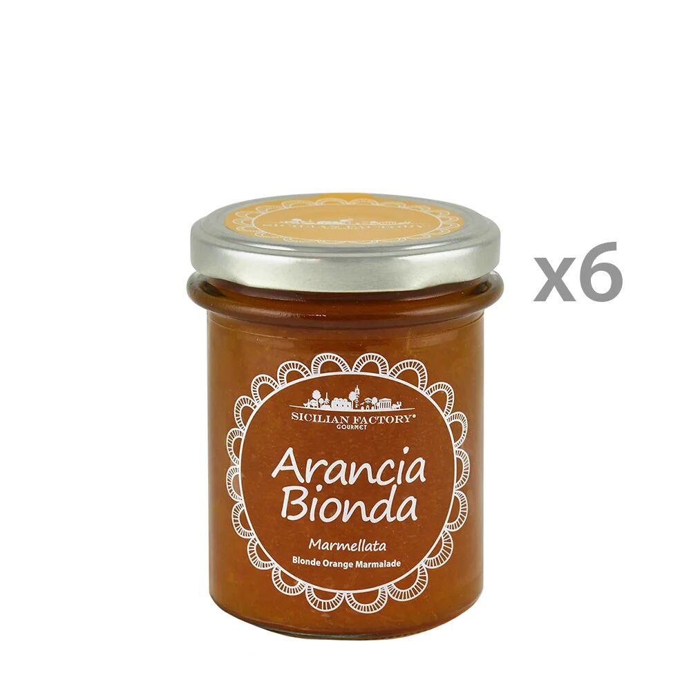 Sicilian Factory 6 vasetti - Marmellata di Arancia Bionda 240 gr