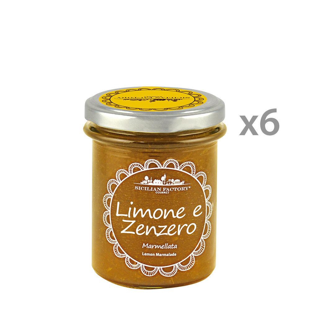 Sicilian Factory 6 vasetti - Marmellata Limone e Zenzero 240 gr