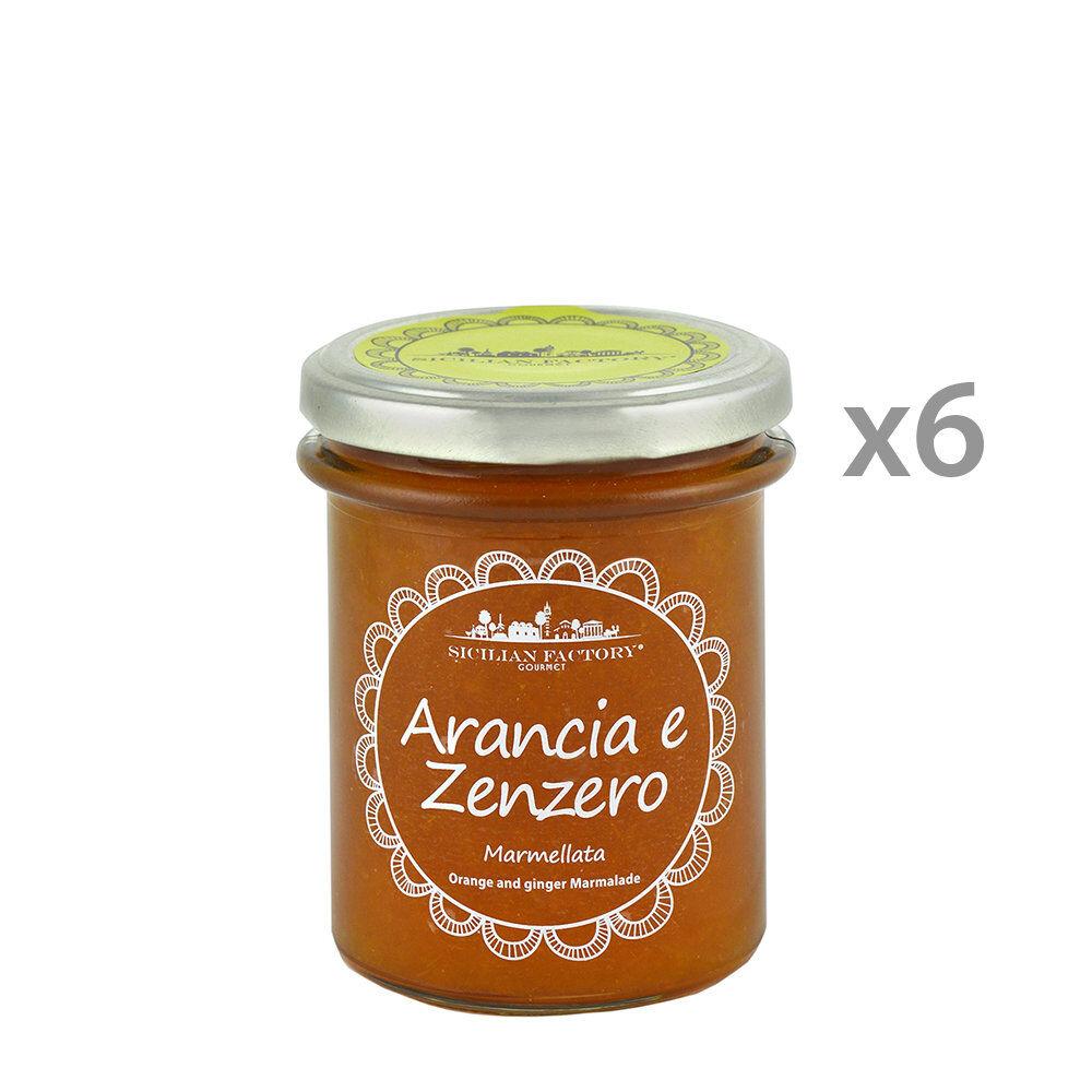 Sicilian Factory 6 vasetti - Marmellata Arancia e Zenzero 240 gr